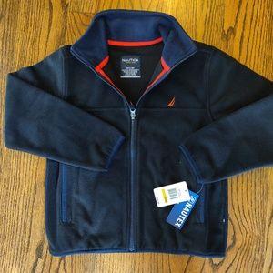Nautica Fleece Black jacket NWT - Size Boy 8